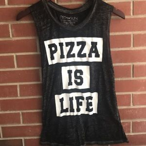Fifth Sun Pizza Is Life Tank Top